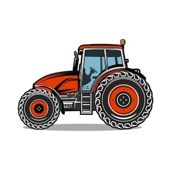 Illustration de l'agriculture agricole tracteur couleur