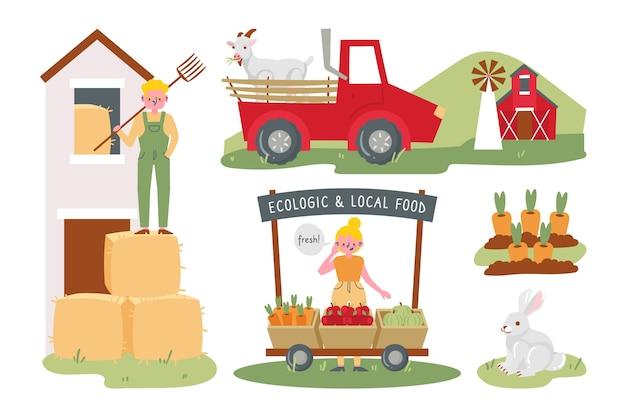 Illustration de l'agriculture biologique