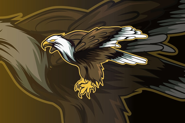 Illustration aigle ailes dessin à la main