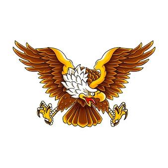 Illustration de l'aigle chauve