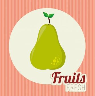 Illustration d'aliments sains de fruits