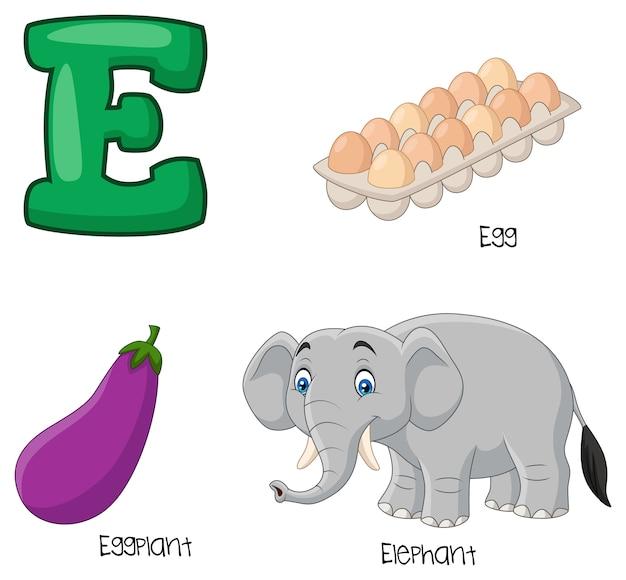 Illustration de l'alphabet e