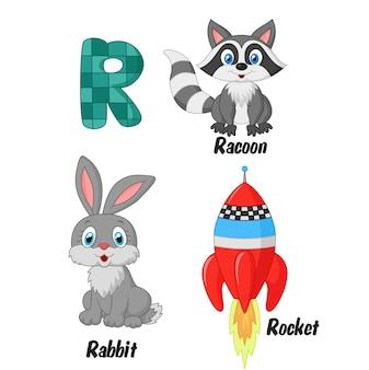 Illustration de l'alphabet r