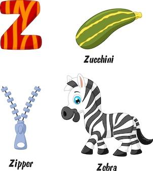 Illustration de l'alphabet z