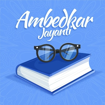 Illustration d'ambedkar jayanti dessinée à la main