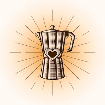 Illustration d'amour de café