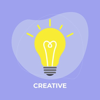 Illustration d'ampoule idée créative sur fond abstrait.