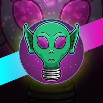 Illustration d'ampoule logo mascotte