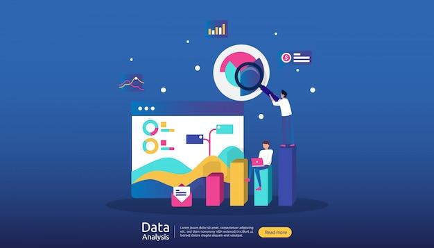 Illustration d'analyse de données numériques pour les études de marché et la stratégie de marketing numérique