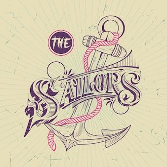 Illustration d'ancre de marin