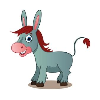 Illustration d'âne de dessin animé