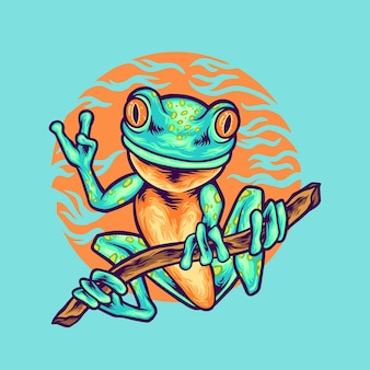 Illustration animale grenouille