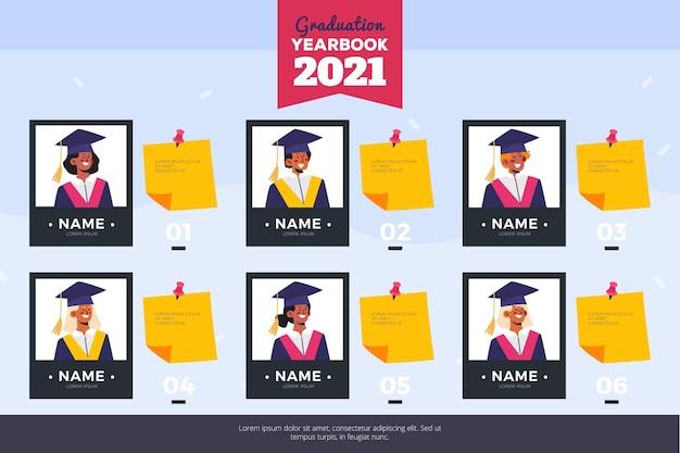 Illustration de l'annuaire de graduation plat
