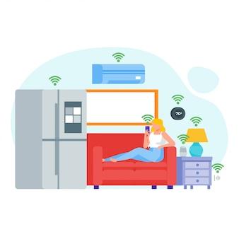 Illustration des appareils smart home