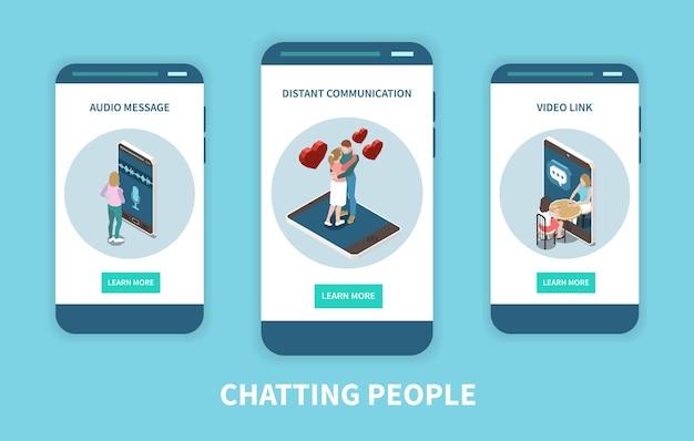 Illustration de l'application mobile de chat