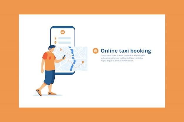 Illustration de l'application mobile de réservation de taxi en ligne