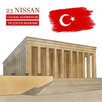 Illustration aquarelle 23 nisan