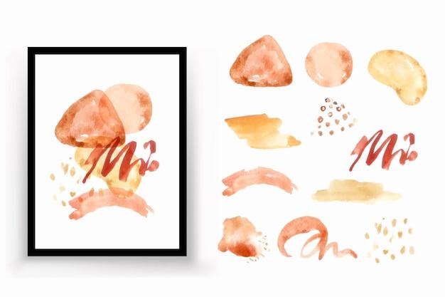 Illustration aquarelle abstraite de forme