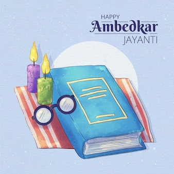Illustration aquarelle ambedkar jayanti