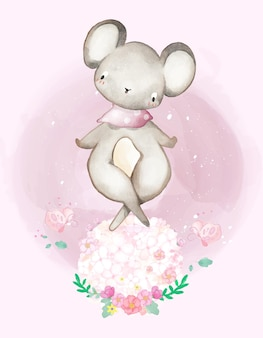 Illustration aquarelle mignonne de peinture animale