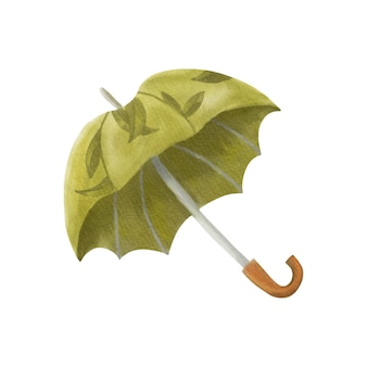 Illustration aquarelle parapluie