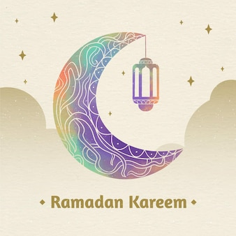 Illustration aquarelle ramadan kareem