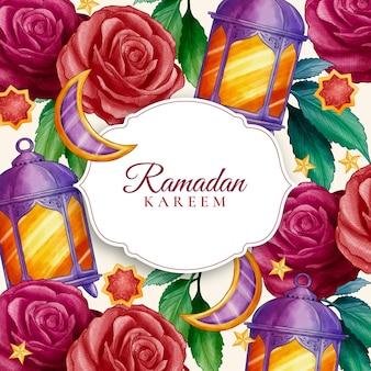 Illustration aquarelle ramadan kareem