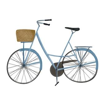 Illustration aquarelle de vélo avec style mignon panier