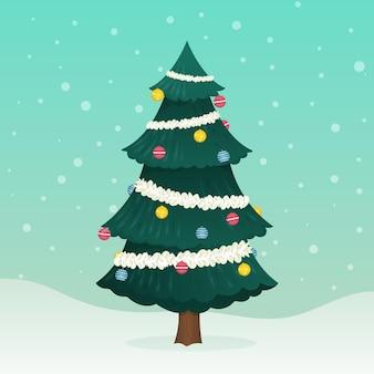 Illustration d'arbre de noël 2d