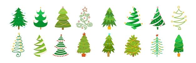 Illustration d'arbre de noël de collection