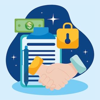 Illustration de l'argent et des affaires