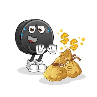 Illustration de l'argent de refus de fruits de date