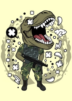 Illustration de l'armée trex