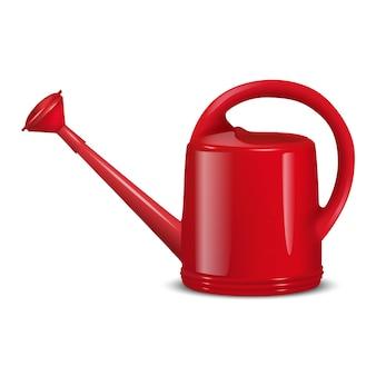 Illustration de l'arrosoir rouge pour le jardinage. isolé sur blanc