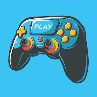 Illustration d'art de contrôleur de bâton de playstation