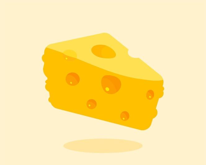 Illustration d'art de dessin animé isolé fromage