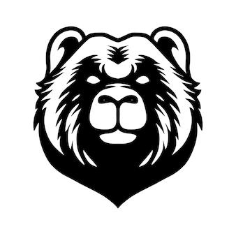 Illustration d'art de ligne de tête d'ours