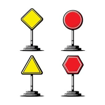 Illustration d'art de panneau de signalisation