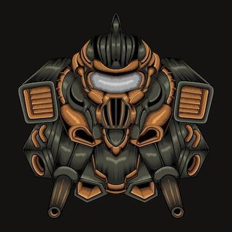 Illustration d'art de robot de combat