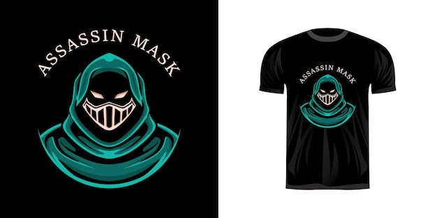 Illustration assassin pour la conception de t-shirt