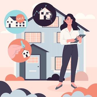 Illustration d'assistance de l'agent immobilier
