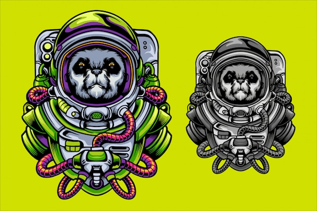 Illustration de l'astronaute panda