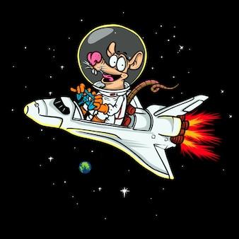 Illustration de l'astronaute de rat