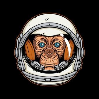 Illustration, astronaute, singe