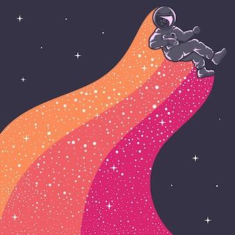 Illustration De L'astronaute Vecteur Premium