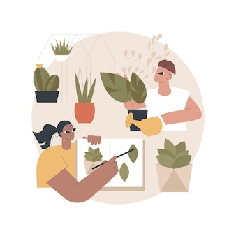 Illustration de l'atelier de jardin
