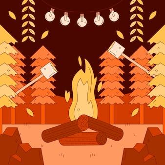 Illustration d'automne dessinée à la main