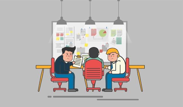 Illustration de l'avatar des gens d'affaires
