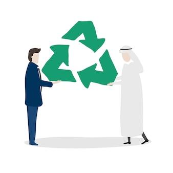 Illustration de l'avatar humain avec l'environnement