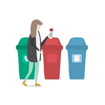 Illustration d'un avatar humain avec environnement